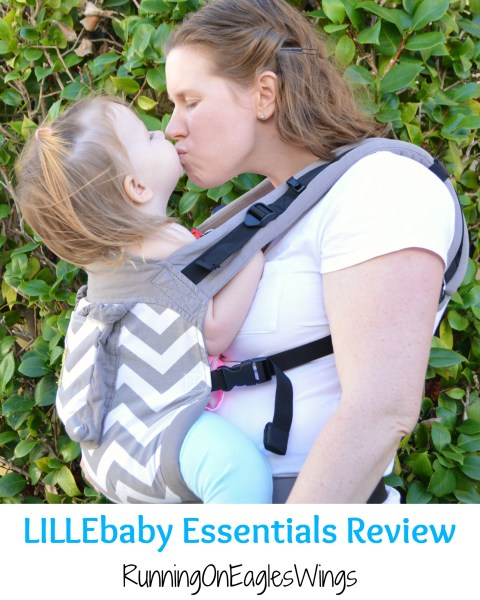 LILLEbaby Essentials Review - Front Carry - Running on Eagles Wings