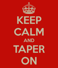 Tapering advice