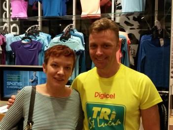 Photo Barry Crane and Sophie - marathon taper tips