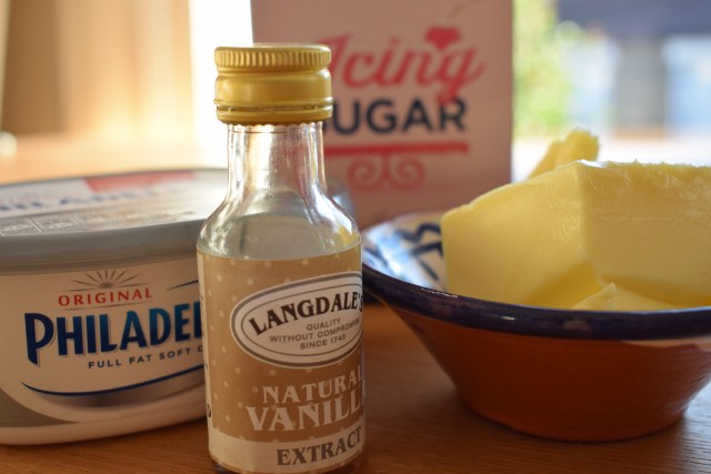 Sweet potato cake - ingredients for the icing