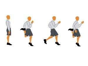 Butt Kicks   Form February   Running on Happy