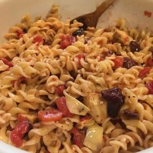 Greek-Style Pasta Salad   Meatless Monday   Running on Happy