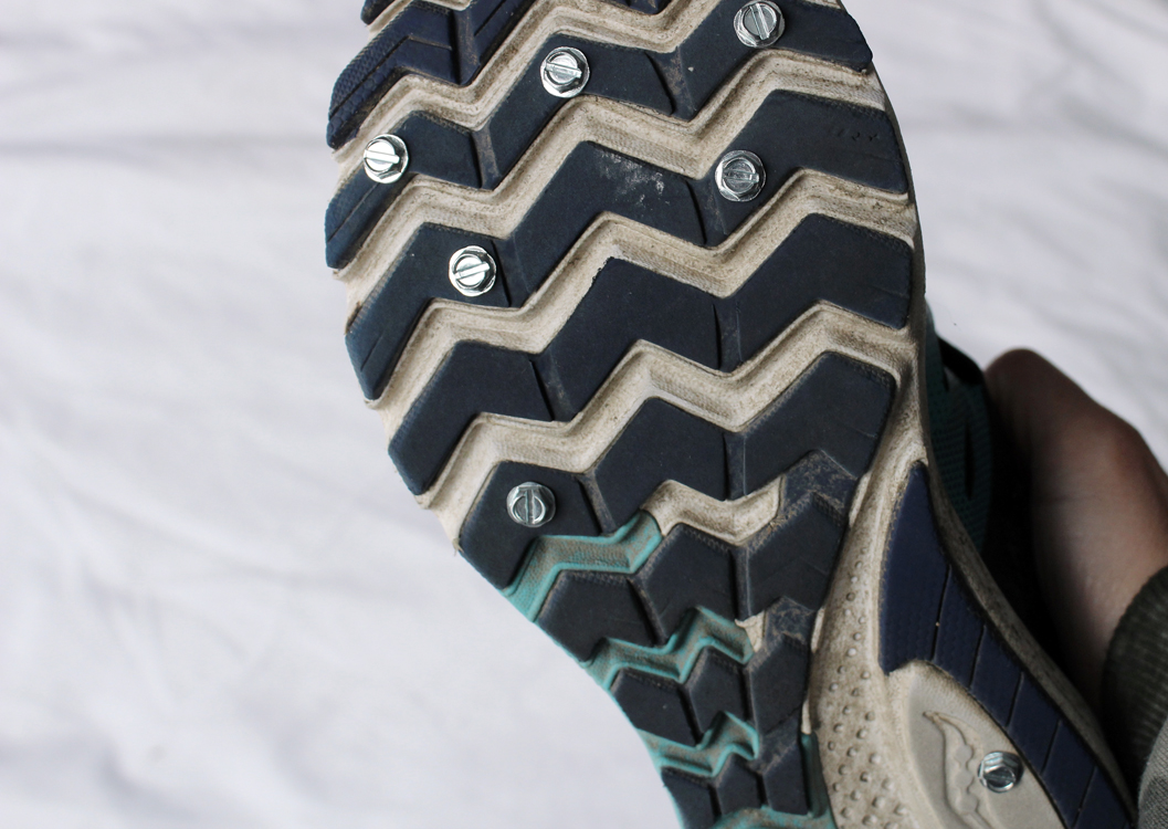 Do-It-Yourself Studded Running Shoes: for Snow, Ice, and Trails   Running on Happy