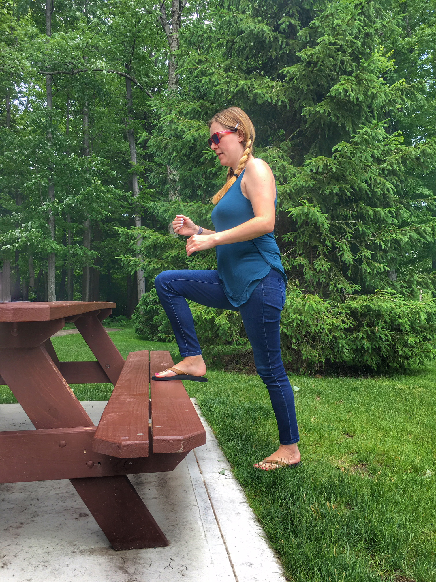 Fun and Simple Playground Workout for Fit Parents | Running on Happy