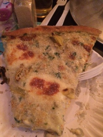 And you can't go wrong with the sinful signature Artichoke slice.