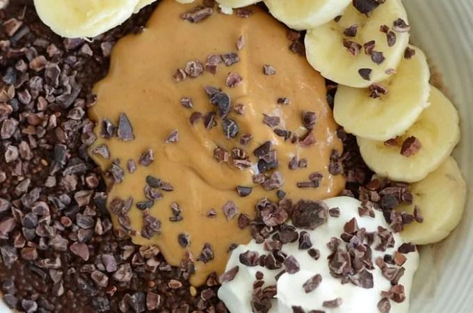 Peanut Butter Chocolate Chia Pudding