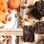 Fudgy Vegan No-Bake Brownies with a Hint of Orange