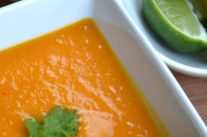 Thai-Style Roasted Butternut Squash and Carrot Soup
