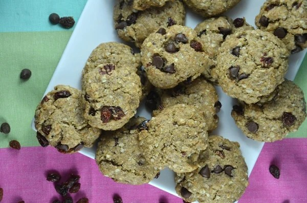 Vegan Carob Raisin Cookies