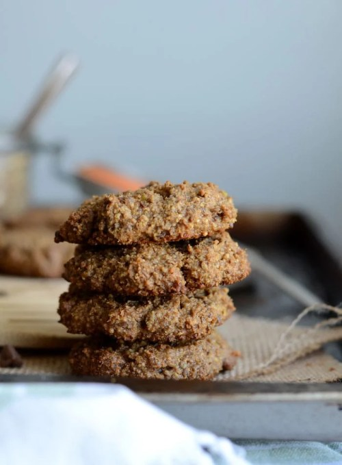 Grain-Free Peanut Butter Cookies with Chocolate Chips - Only 5 Ingredients, Vegan