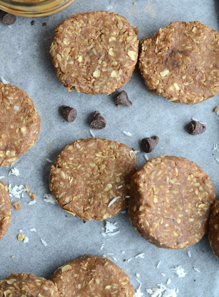 No-Bake Chocolate Coconut Protein Cookies - Vegan