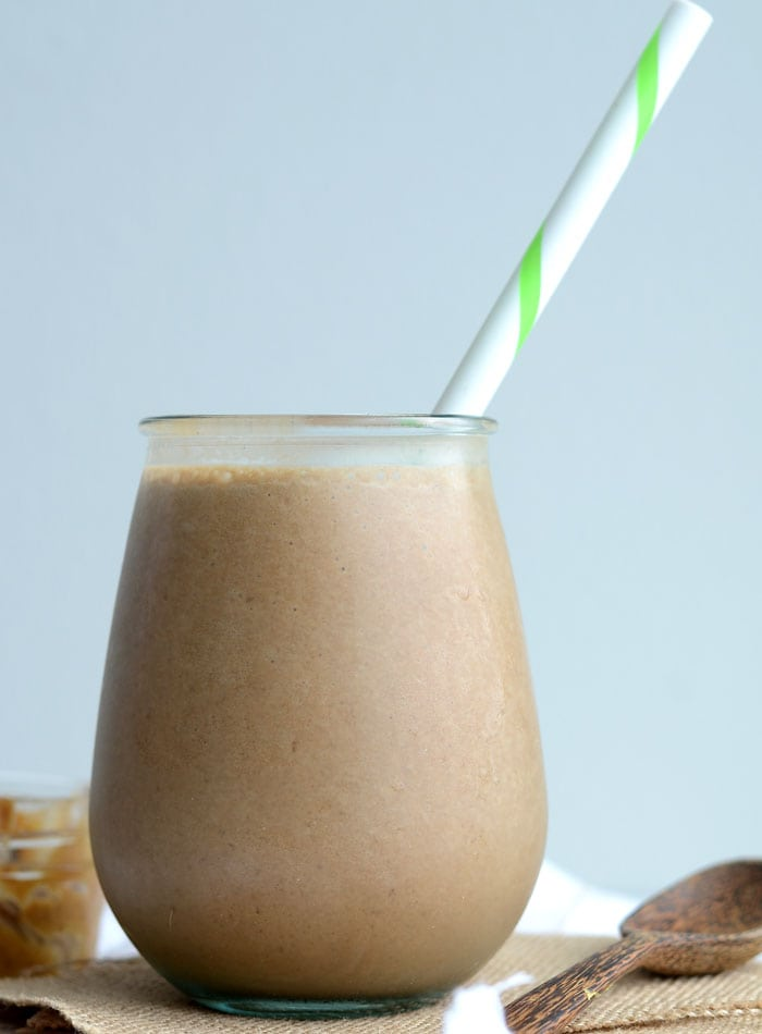 Peanut Butter Mocha Smoothie - Vegan
