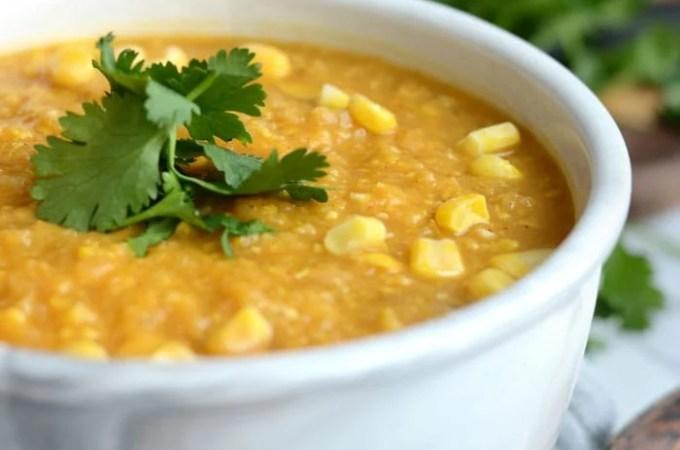 Slow Cooker Sweet Potato Corn Chowder