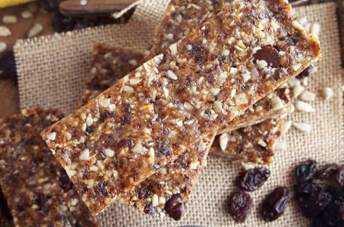 Nut-Free Chewy Vegan Granola Bars