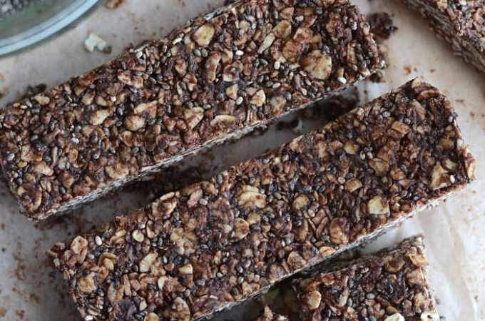 No-Bake Chocolate Coconut Chia Seed Bars