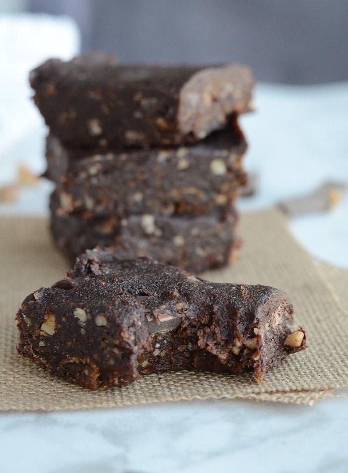 Double Chocolate Raw Vegan Brownies