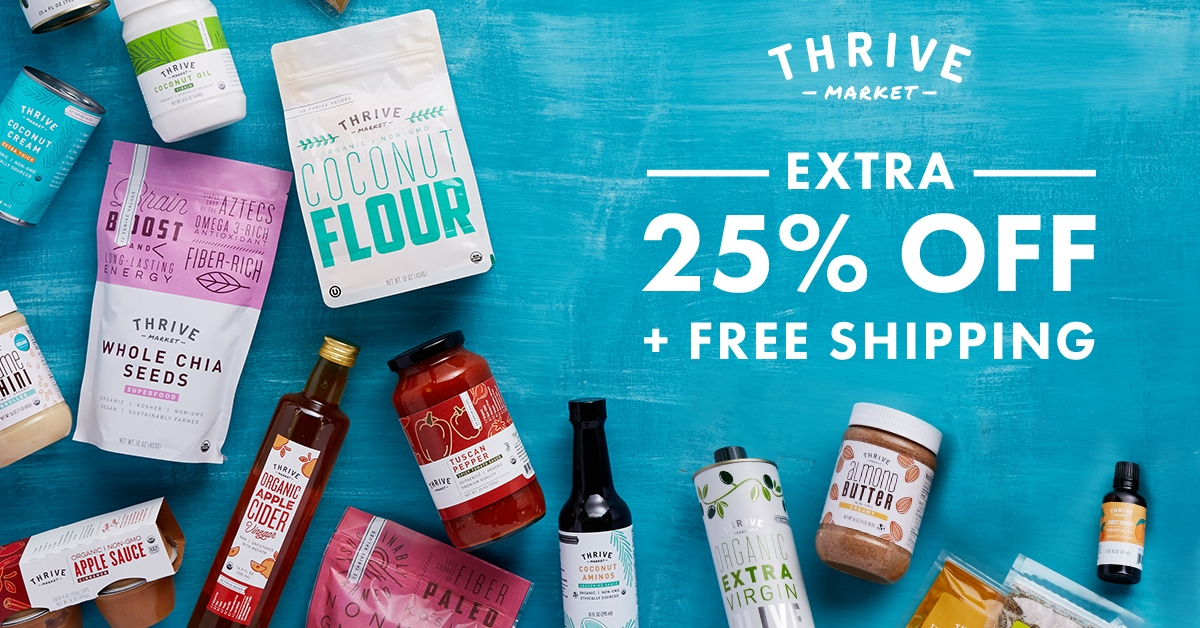 Free Shipping and 25% off from Thrive Market
