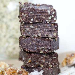 Healthy Raw Hemp Seed Brownies   vegan, gluten-free   Running on Real Food