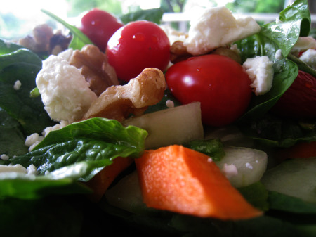 Spinach Salad close-up