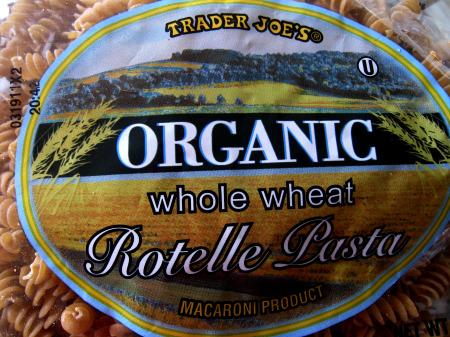 TJ whole wheat pasta