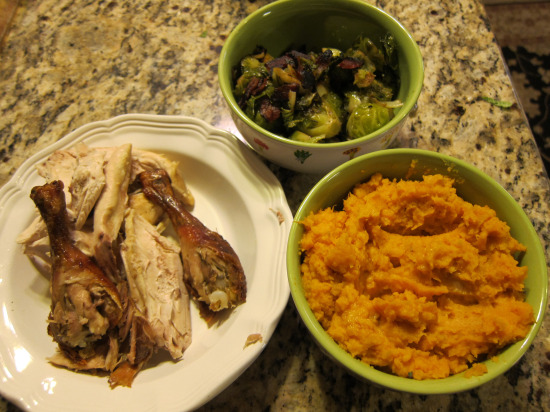 11.21 Roast chicken and sweet potatoes