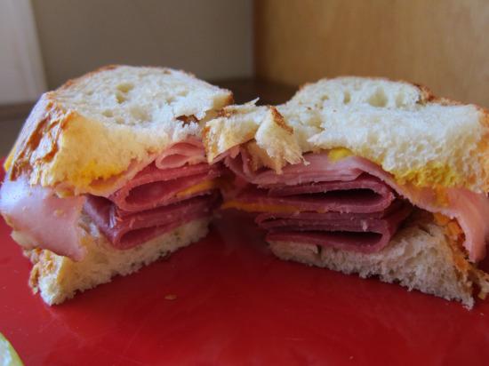 11.22 salami sandwich