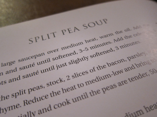 11.28 Split Pea recipe
