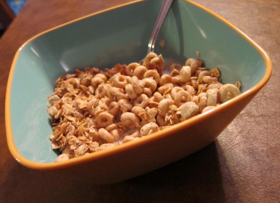 12.8 Cheerios with granola