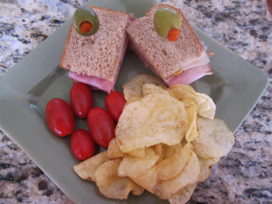 1.2 Salami Sandwich with olives 2