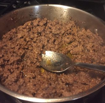 Brown the ground beef.