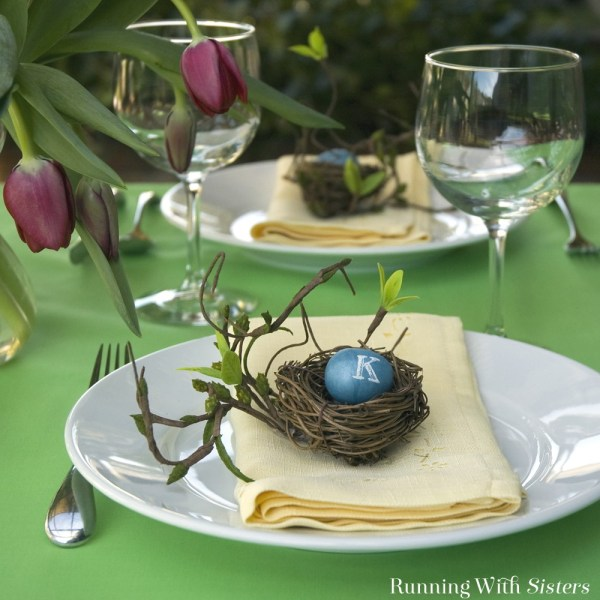 Easter Egg Placecards - Running With Sisters