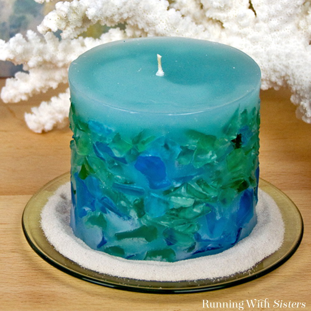 DIY Candle Making How To Make A Sea Glass Candle