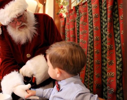 Shaking Santa's Hand