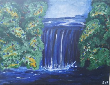 """Waterfall"" - Acrylic"