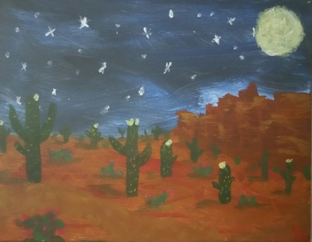 """Desert Night"" - Acrylic"