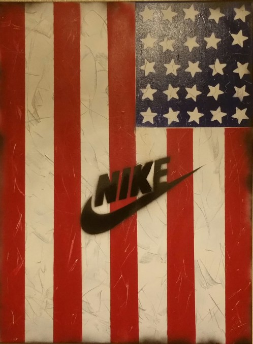 Nike Flag - Spray Paint