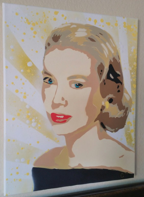 """Grace Kelly"" - Spray Paint"