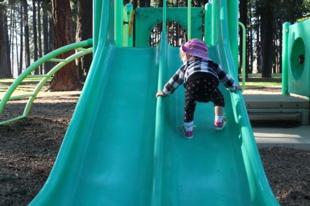 Reebok VentureFlex - great for climbing slides!