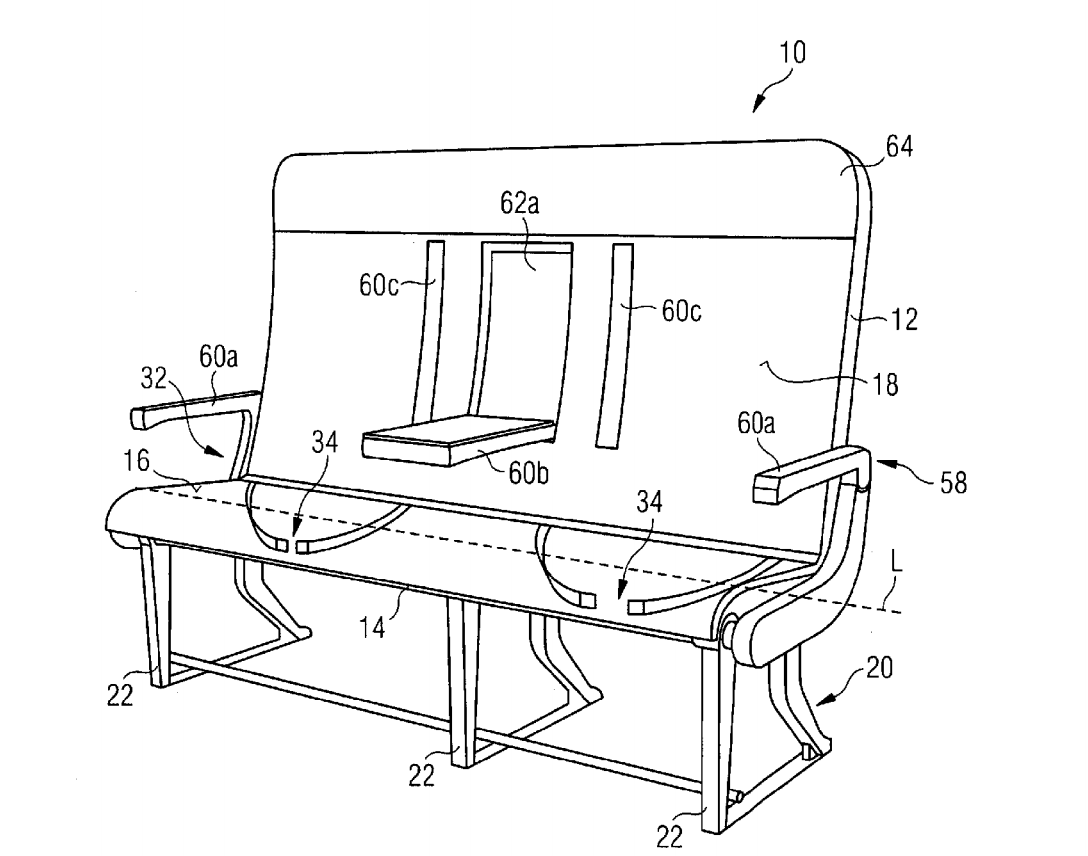 New Airbus Seat Patent, 3-D Printing Airline Cabin Parts