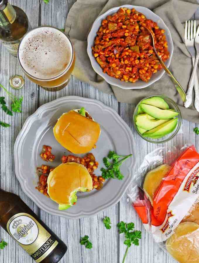 Vegetarian Sloppy Joes With Beer