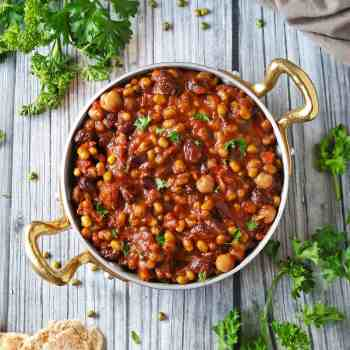 Slow Cooker Three Bean Stew