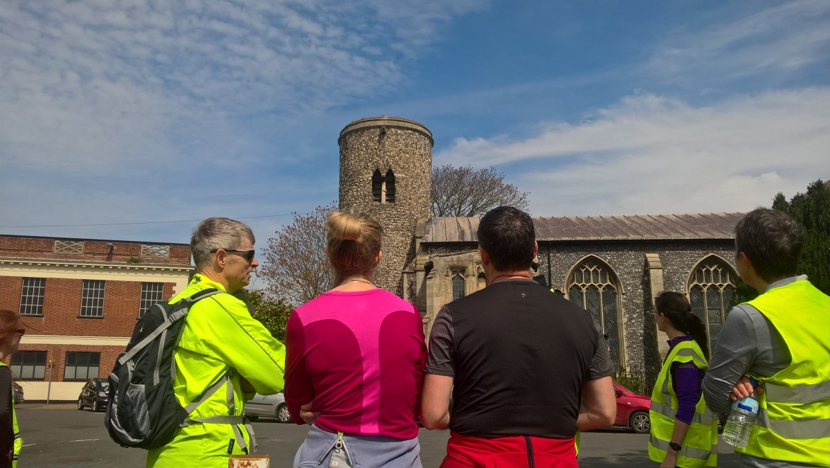 Adrian's 3.2 mile run back to medieval Norwich