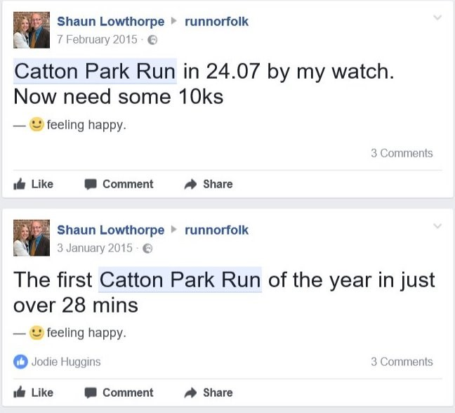 Well done Catton Park Run 200! But alas another run fail for Mr Nearly Ran