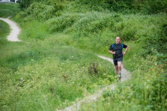 Runnorfolk blogger Shaun Lowthorpe running through Mousehold Heath Norwich