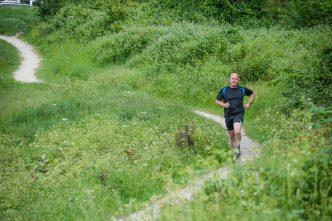 Runnorfolk blogger Shaun Lowthorpe running through Mousehold Heath Norwich