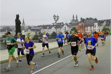 Runners in the Koblenz Marathon
