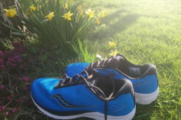 I've finally bought some new Saucony running shoes, says Shaun Lowthorpe Runnorfolk blogger