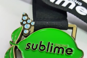 The medal for the Hughes Sublime 10k event