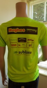 A rear view of the Sublime 10k Tech T-shirt