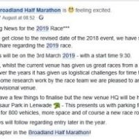New route for Broadland Half marathon 2019